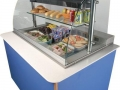 Impressions refrigerated deli unit with Corian top and laminate panels