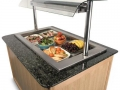 Impressions refrigerated well unit granite top and real wood panels