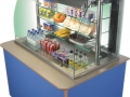 Impressions refrigerated multi-tier with laminate top and laminate panels