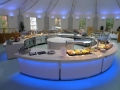 Heated food servery - school meals counter