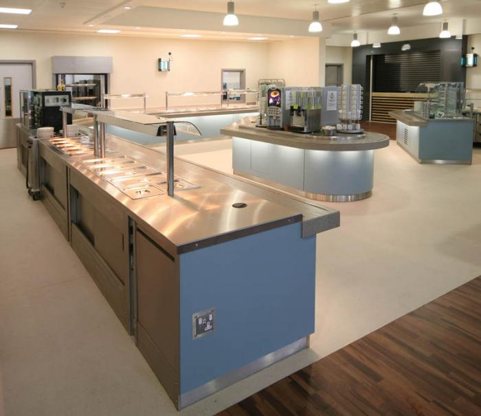 Stainless steel top bains marie servery