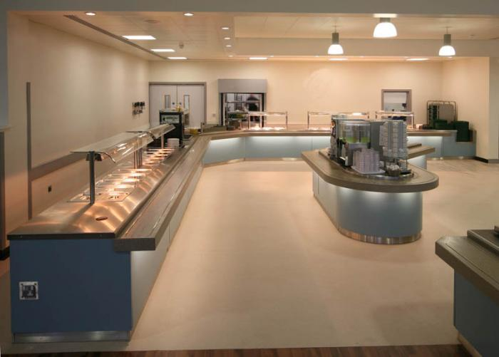 Large food servery and drinks point