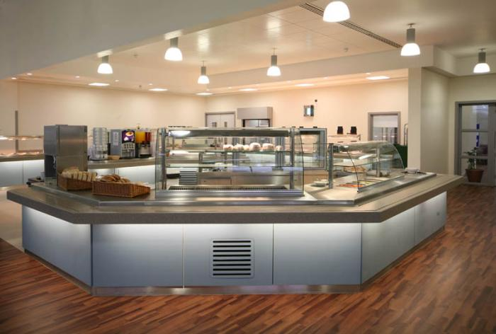 Deli sandwich make up counter and refrigerated salad bar