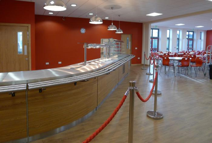 Stainless steel servery counter