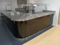 Stainless Steel Top High Gloss Corner Counter